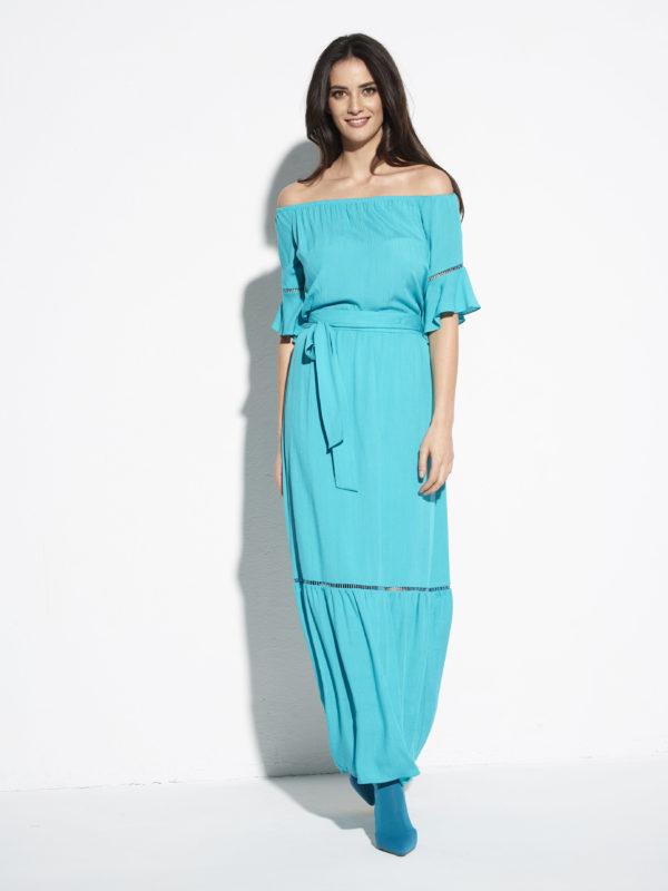 Długa spódnica z wiskozy Lazur