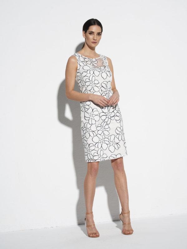 Biało-czarna koronkowa sukienka od EZURI