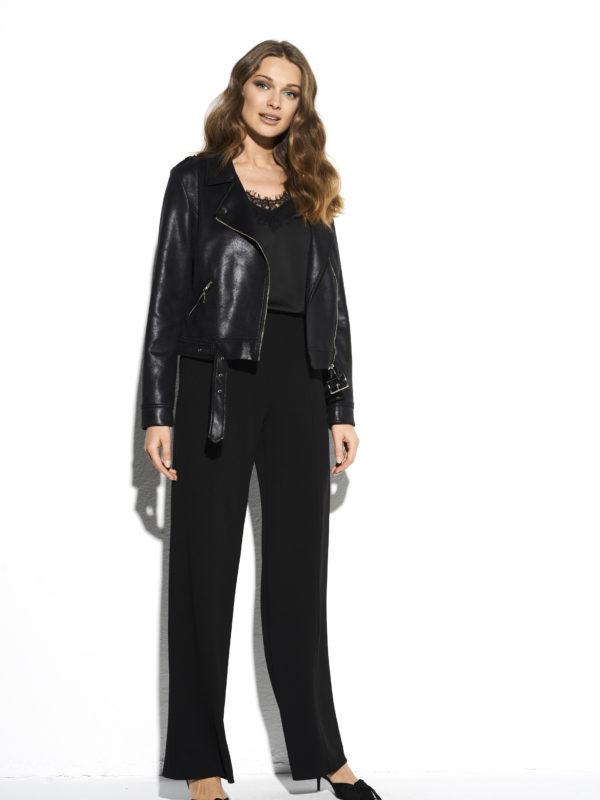 Czarne szerokie spodnie