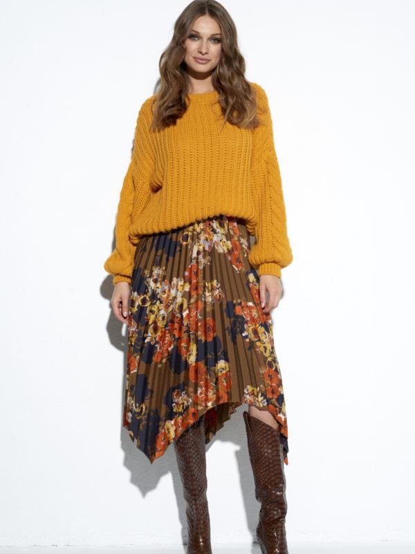 Żółty miękki sweter Korsyka