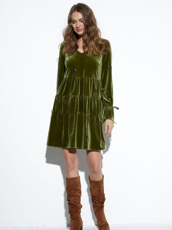 Zielona sukienka Celebrytka.