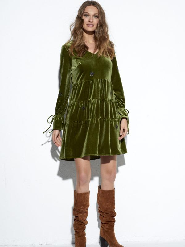 Zielona sukienka Celebrytka