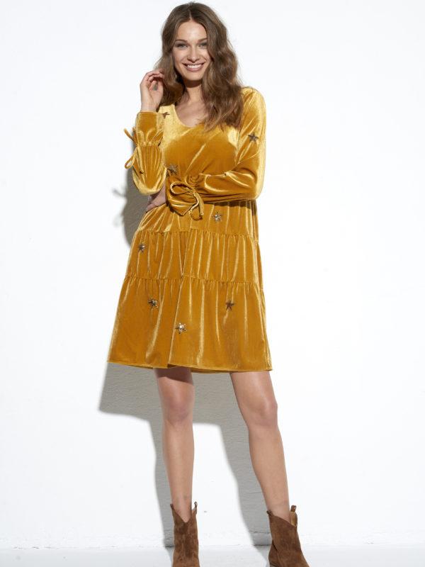 Żółta sukienka Celebrytka.
