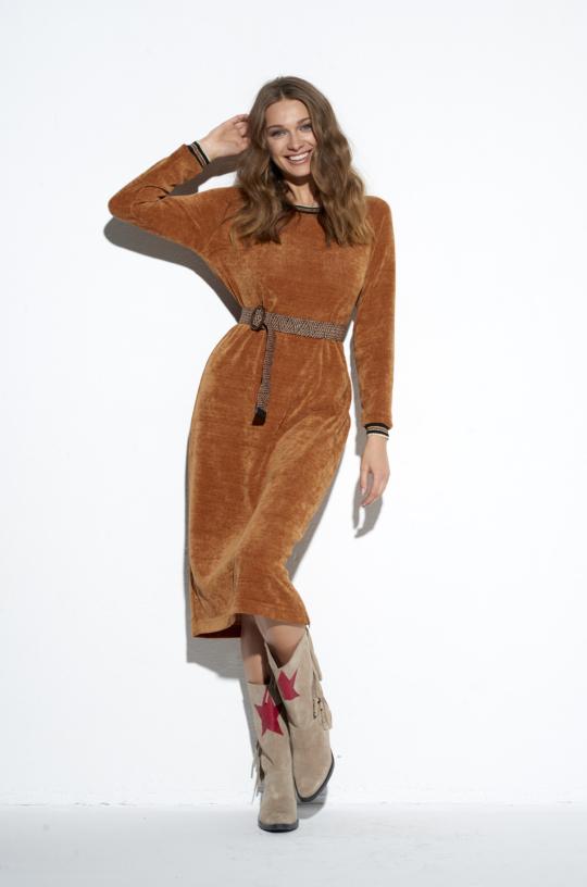 Musztardowa sukienka Fluffy