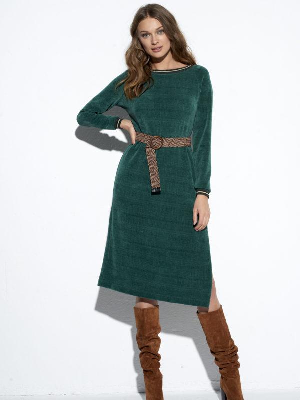 EZURI Zielona sukienka Fluffy