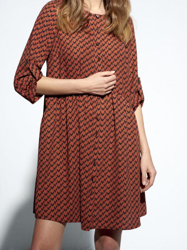 Geometryczna sukienka Valnetina