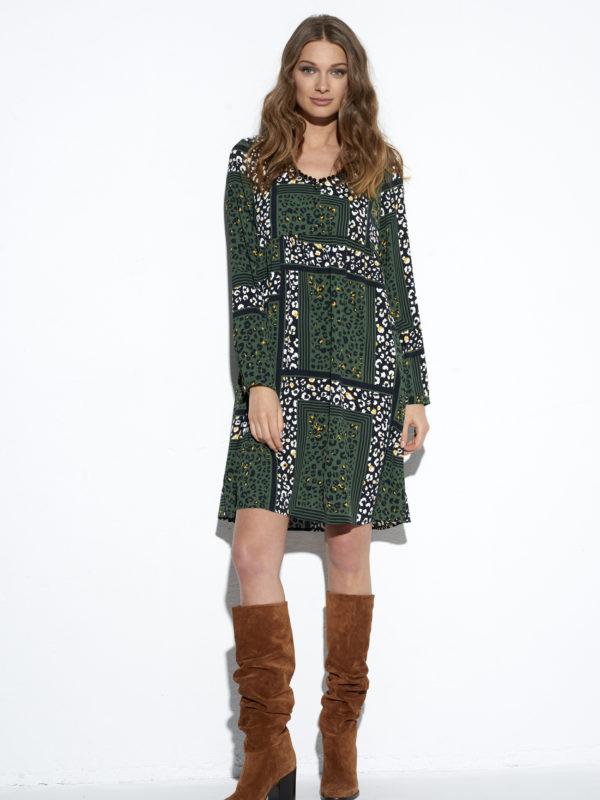 Zielona sukienka Wabi-Sabi