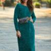 zielona sukienka gładka