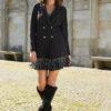 Czarna marynarko-sukienka