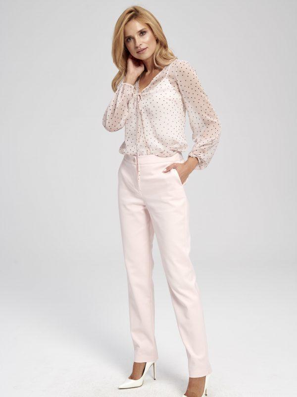 Różowa bluzka w białe kropki Polka Dot EZURI