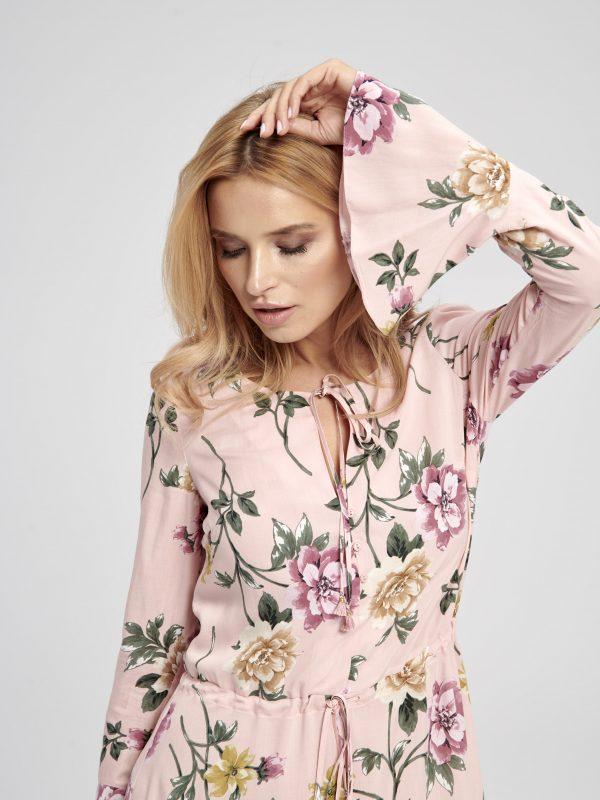 Długa sukienka w kwiaty z wiskozy Gypsy