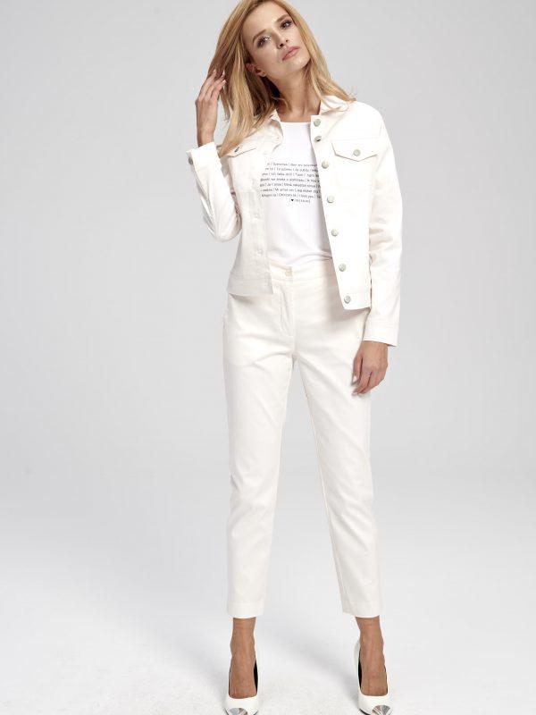 biała kurtka jeansowa krótka damska