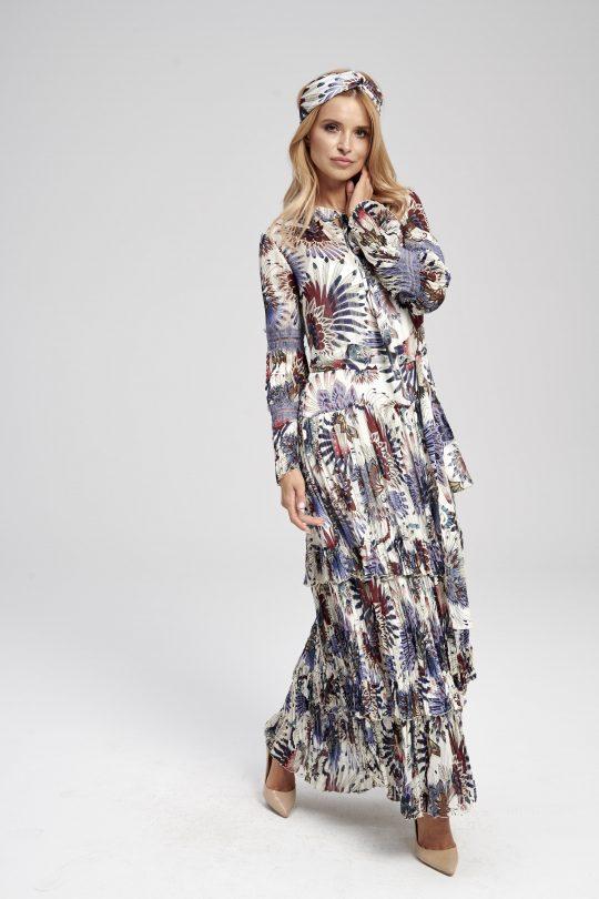 długa kolorowa sukienka do ziemi