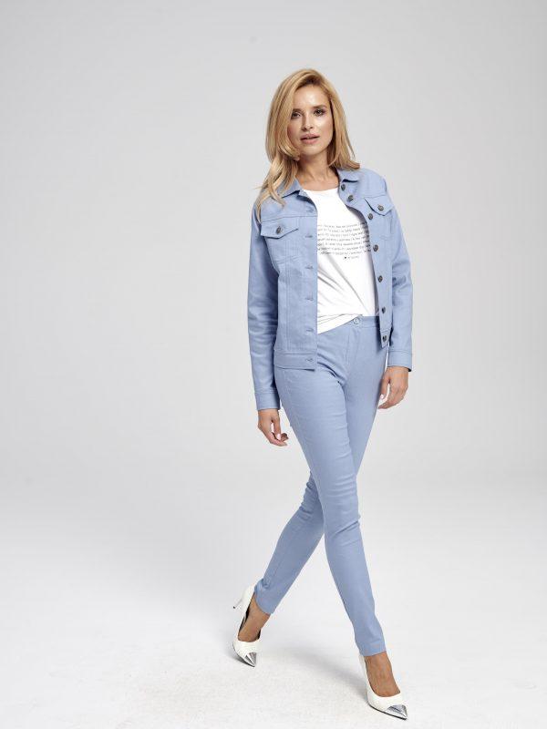 kurtka jeansowa niebieska krótka