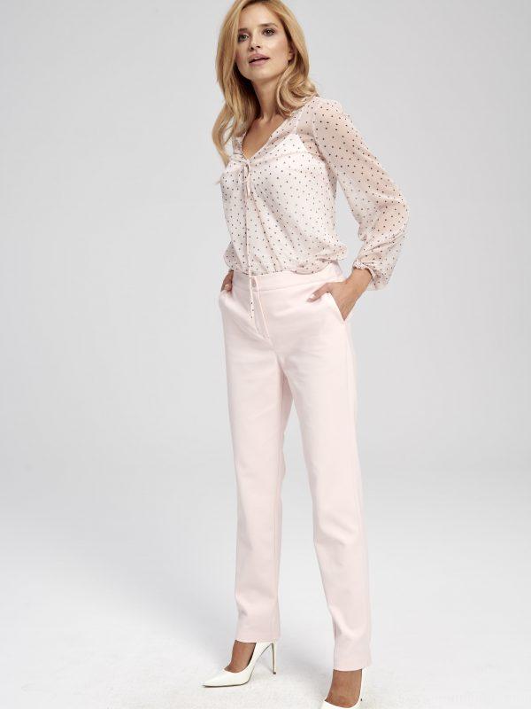 Różowe spodnie materiałowe ZOE