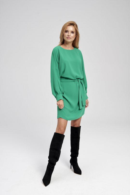 Zielona sukienka typu kimono