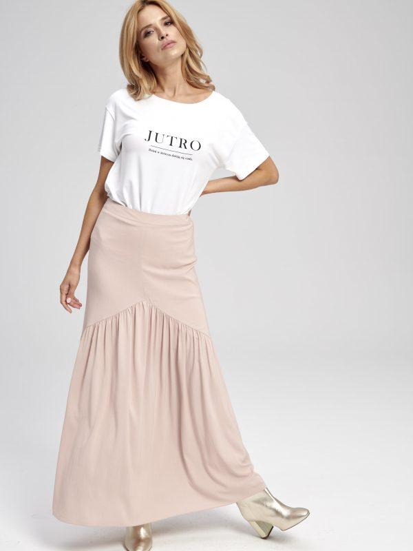 długa różowa spódnica oryginalna i nowoczesna forma