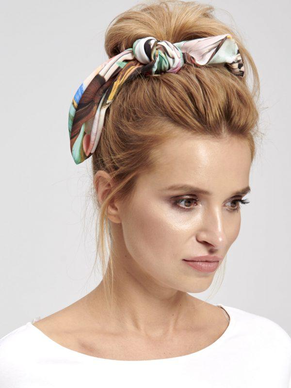 Kolorowa materiałowa gumka do włosów