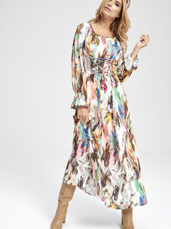 Kolorowa materiałowa opaska do włosów Marina