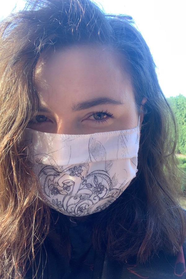 Biało-szara maska ochronna