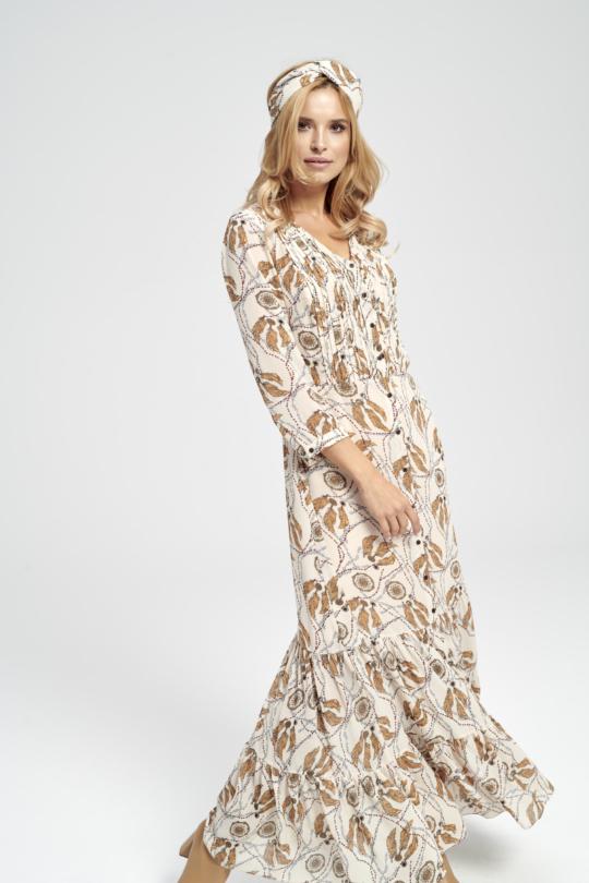 długa sukienka łapacz snów nadruk