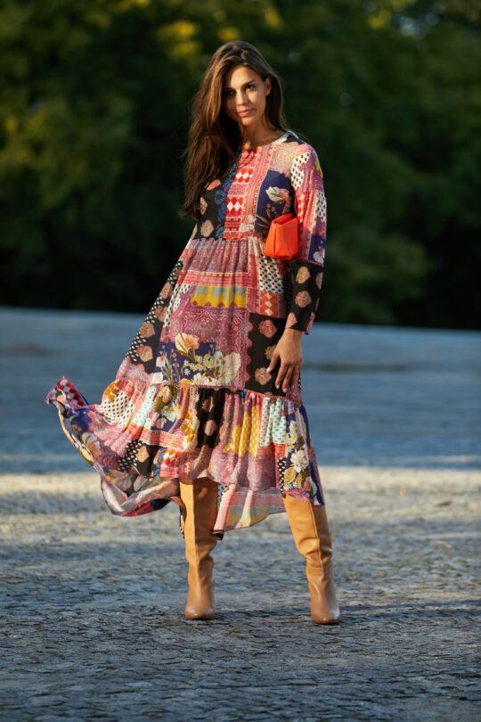 Kolorowa maxi sukienka boho