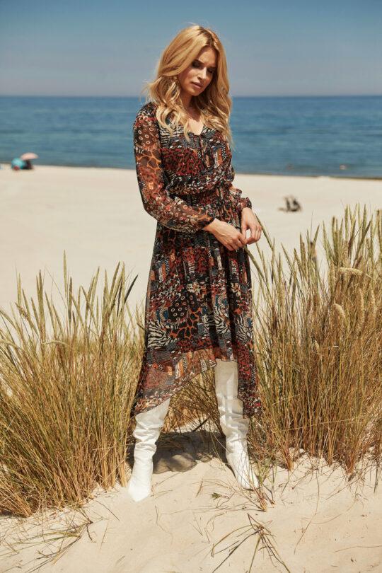 kolorowa sukienk