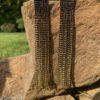 czarne długie kolczyki