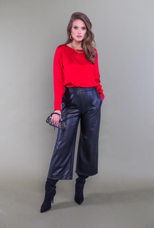 czarne spodnie culotty